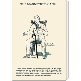 Retromagic 'The Magnetized Cane' Stretched Canvas Art