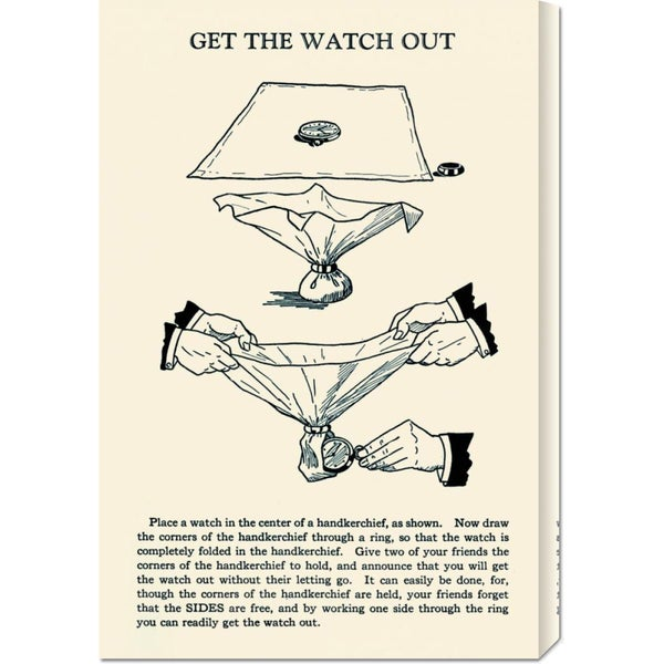 Retromagic 'Get the Watch Out' Stretched Canvas Art