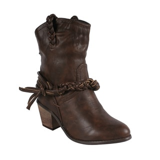 Liliana by Beston Women's 'Couture-4' Brown Cowgirl Boots