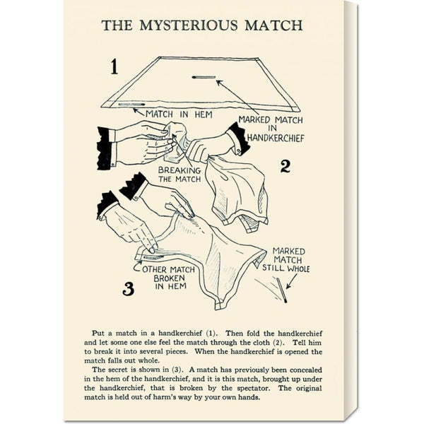 Retromagic 'The Mysterious Match' Stretched Canvas Art