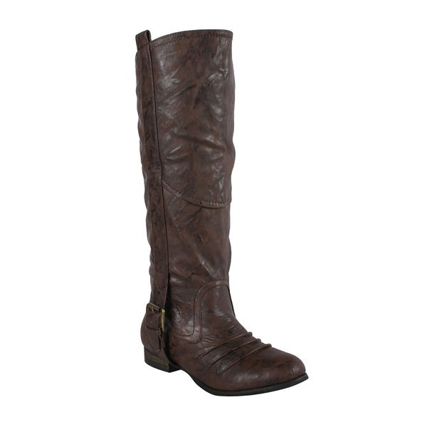 Liliana by Beston Women's 'Marsala' Brown Riding Boots