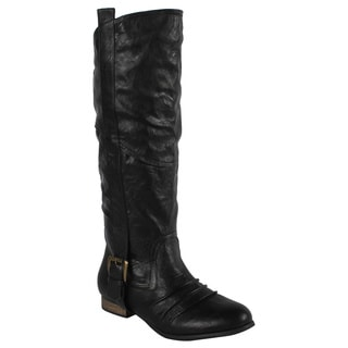 Liliana by Beston Women's 'Marsala' Black Riding Boots