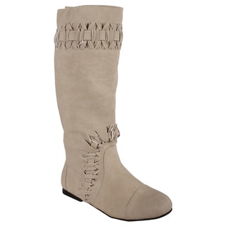 Liliana by Beston Women's 'Honesty' Beige Boots