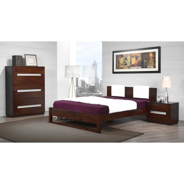 Eureka Upholstered Queen Platform Bed