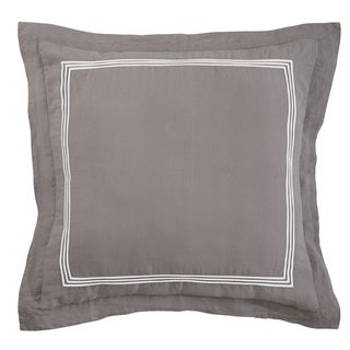 Roxbury Park Baratto Graphite With Ivory Trim Euro Sham