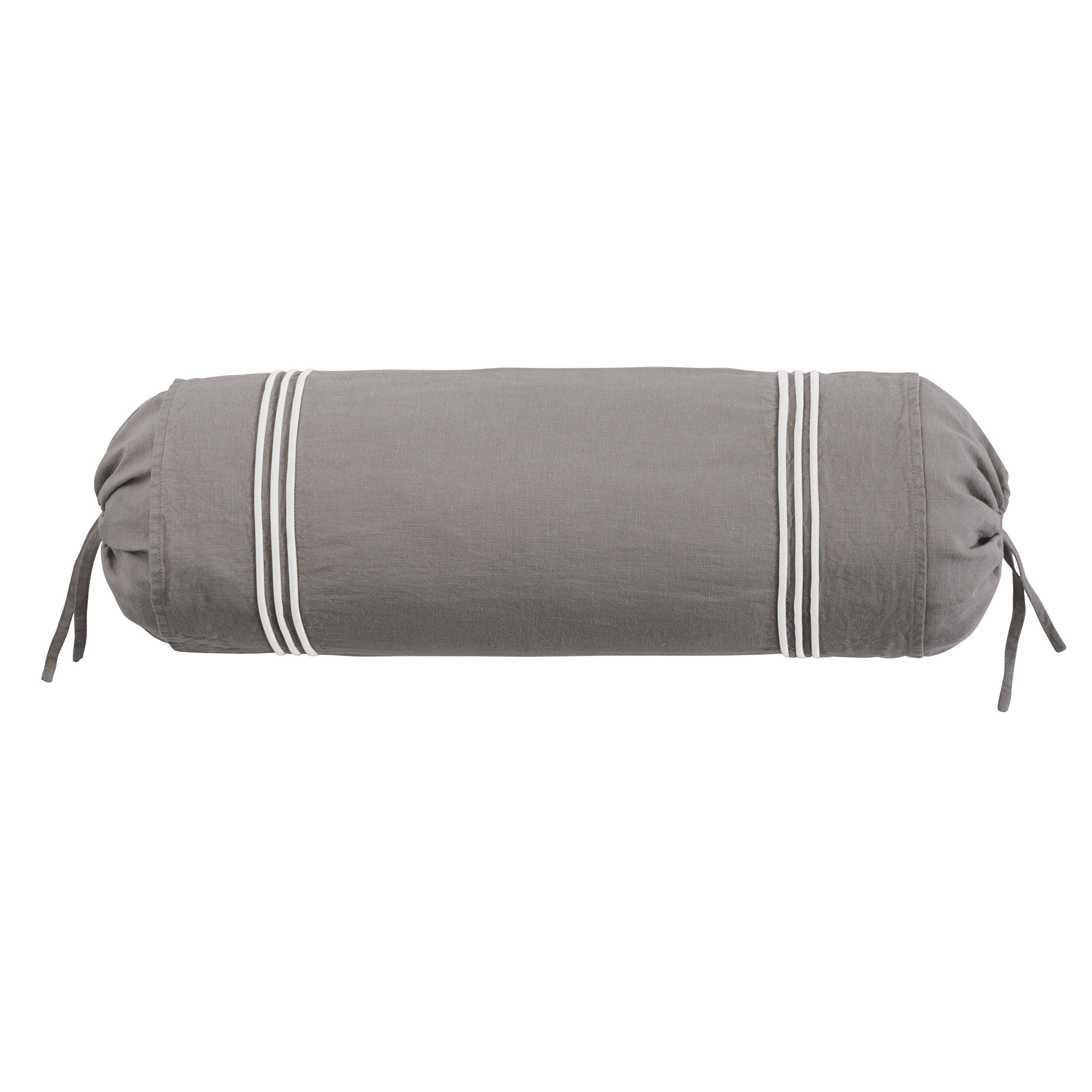 Roxbury Park Baratto Graphite With Ivory Trim Neck Roll Decorative Pillow at Sears.com