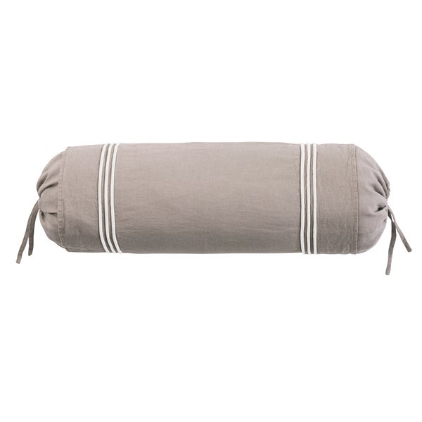 Roxbury Park Barrato Linen Prarie Ivory Neck Roll Decorative Pillow