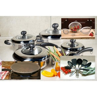 Stainless Steel 10-piece Cookware and Tool Set