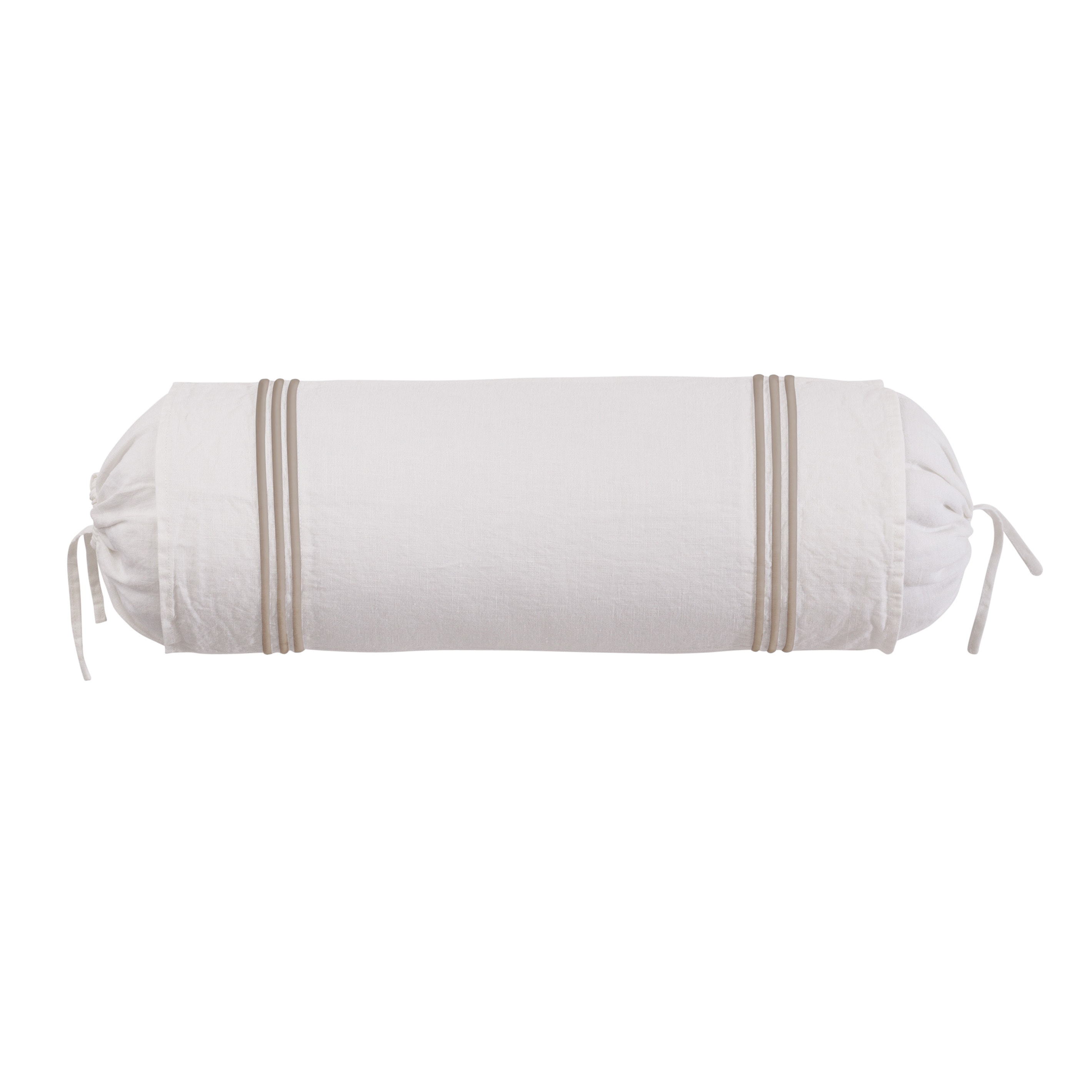 Roxbury Park Baratto Linen Ivory Prairie Neck Roll Decorative Pillow at Sears.com