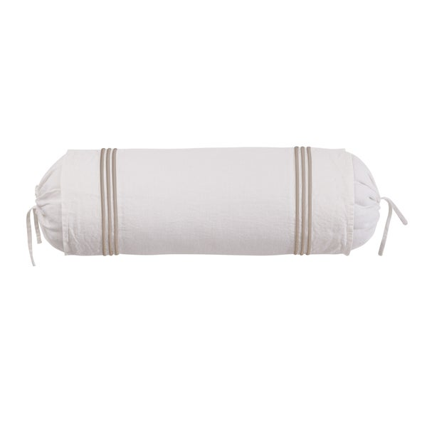 Roxbury Park Baratto Linen Ivory Prairie Neck Roll Decorative Pillow
