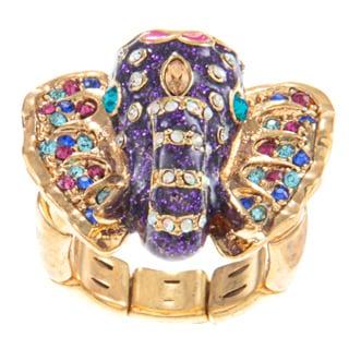 Betsey Johnson Elephant Stretch Fashion Ring