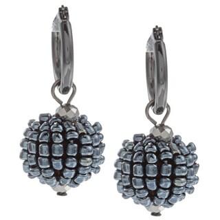 Kenneth Cole Blue Bead Drop Earrings