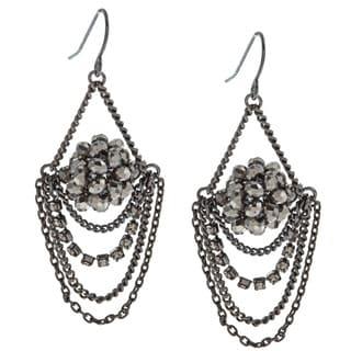 Kenneth Cole Silvertone Chandelier Earrings