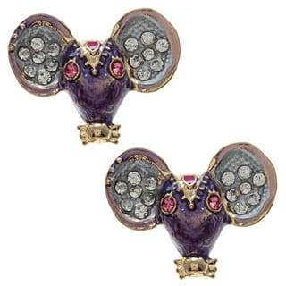 Betsey Johnson Cubic Zirconia Mouse Stud Earrings