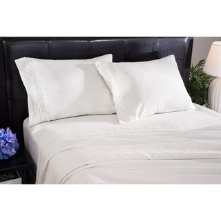 Roxbury Park Baratto Linen Ivory on Ivory Sheet Set