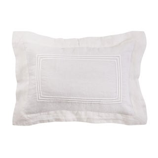 Roxbury Park Baratto Linen Ivory on Ivory Decorative Pillow
