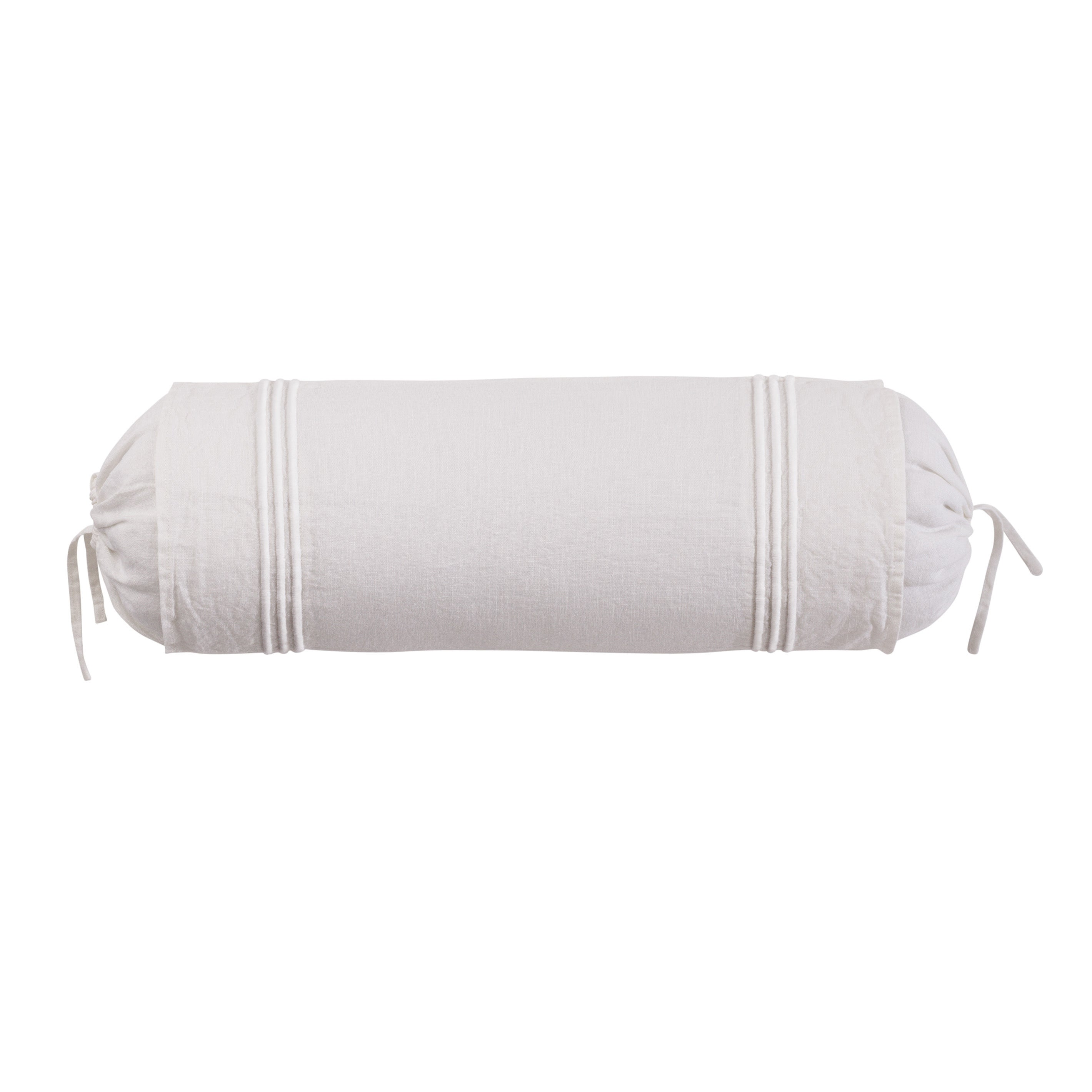 Roxbury Park Baratto Linen Ivory On Ivory Neck Roll Decorative Pillow at Sears.com