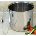 12-quart Stock Pot with Encapsulated Base and Scoop Colander Set