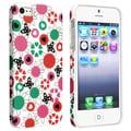 BasAcc Flower Rear Style 62 Rubber Coated Case for Apple iPhone 5