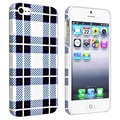 BasAcc Checkered Rear Style 2 Rubber Coated Case for Apple iPhone 5