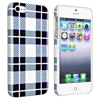 BasAcc Checkered Rear Style 2 Rubber Coated Case for Apple iPhone 5/ 5S