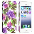BasAcc Flower Rear Style 45 Rubber Coated Case for Apple iPhone 5