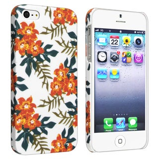 BasAcc Flower Rear Style 59 Rubber Coated Case for Apple iPhone 5