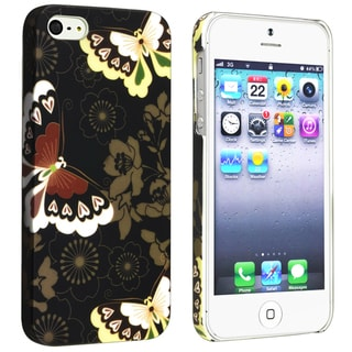 BasAcc Flower Rear Style 52 Rubber Coated Case for Apple iPhone 5