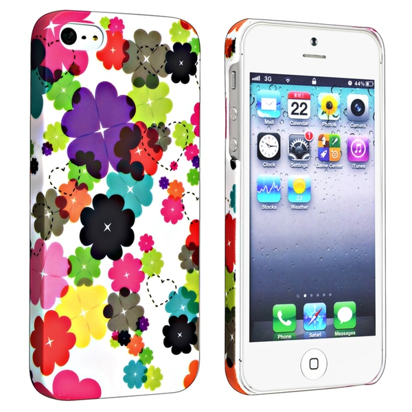 BasAcc Flower Rear Style 47 Rubber Coated Case for Apple iPhone 5