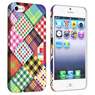 BasAcc Checkered Rear Style 1 Rubber Coated Case for Apple iPhone 5