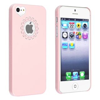 BasAcc Light Pink Sweet Heart Rear Snap-on Case for Apple iPhone 5/ 5S