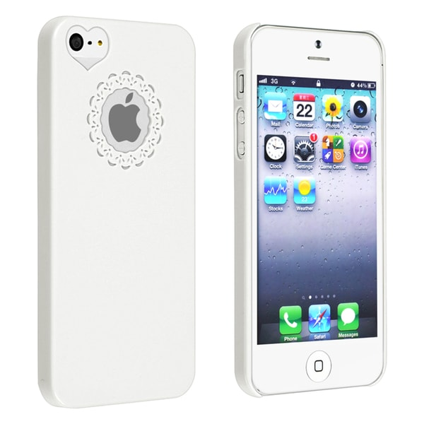 BasAcc White Sweet Heart Rear Snap-on Case for Apple iPhone 5