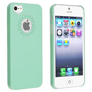 BasAcc Mint Green Sweet Heart Rear Snap-on Case for Apple iPhone 5