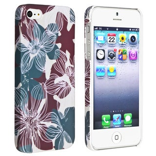 BasAcc Flower Rear Style 30 Rubber Coated Case for Apple iPhone 5