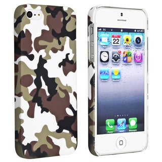 BasAcc Brown Camouflage Rear Rubber Coated Case for Apple iPhone 5
