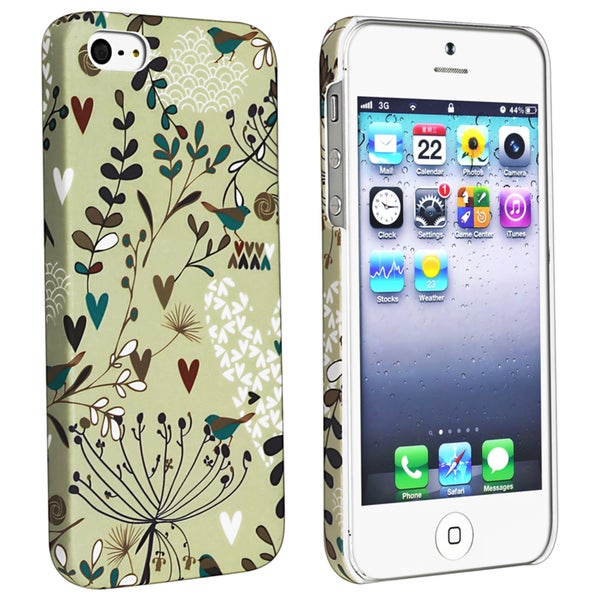 BasAcc Flower Rear Style 55 Rubber Coated Case for Apple iPhone 5