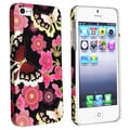 BasAcc Flower Rear Style 51 Rubber Coated Case for Apple iPhone 5