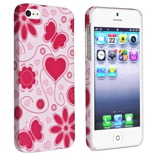BasAcc Flower Rear Style 48 Rubber Coated Case for Apple iPhone 5