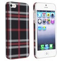BasAcc Checkered Rear Style 4 Rubber Coated Case for Apple iPhone 5
