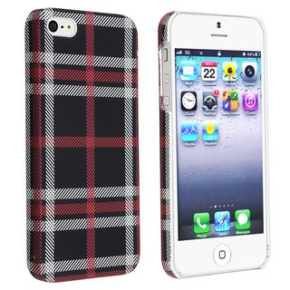 BasAcc Checkered Rear Style 4 Rubber Coated Case for Apple iPhone 5/ 5S