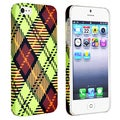 BasAcc Checkered Rear Style 3 Rubber Coated Case for Apple iPhone 5