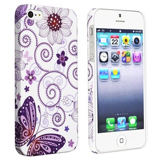 BasAcc Flower Rear Style 26 Rubber Coated Case for Apple iPhone 5