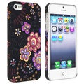 BasAcc Flower Rear Style 44 Rubber Coated Case for Apple iPhone 5