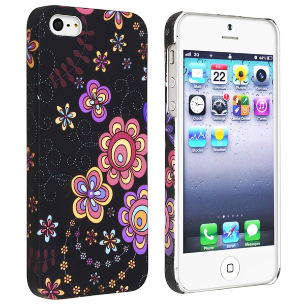 BasAcc Flower Rear Style 44 Rubber Coated Case for Apple iPhone 5/ 5S