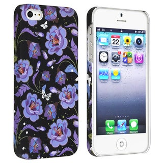 BasAcc Flower Rear Style 42 Rubber Coated Case for Apple iPhone 5