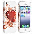 BasAcc White/ Red Hearts Coated Case for Apple iPhone 5