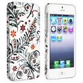 BasAcc White/ Colorful Flower Style 11 Coated Case for Apple iPhone 5/ 5S