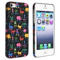 BasAcc Black/ Animals Rear Rubber Coated Case for Apple iPhone 5