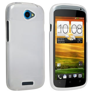 BasAcc Clear White TPU Rubber Case for HTC One S