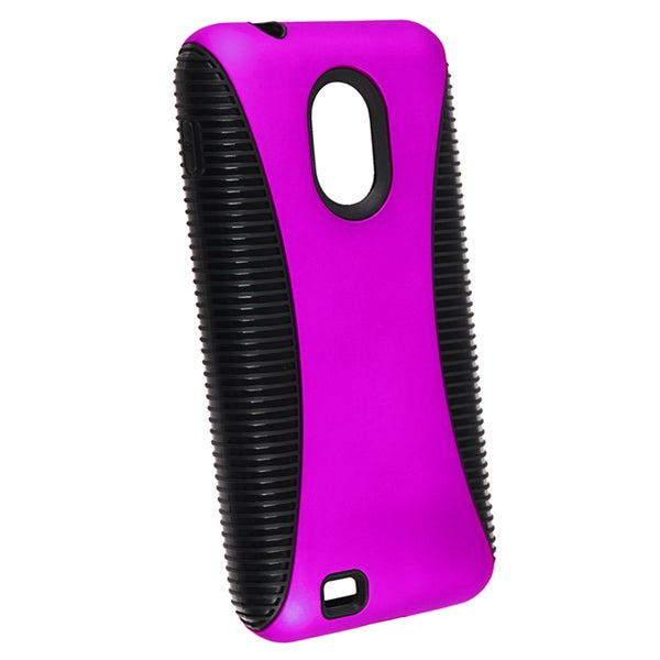 INSTEN Black/ Purple Hybrid Phone Case Cover for Samsung Epic 4G Touch D710